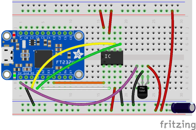Programming SPI flash with an FT232H breakout