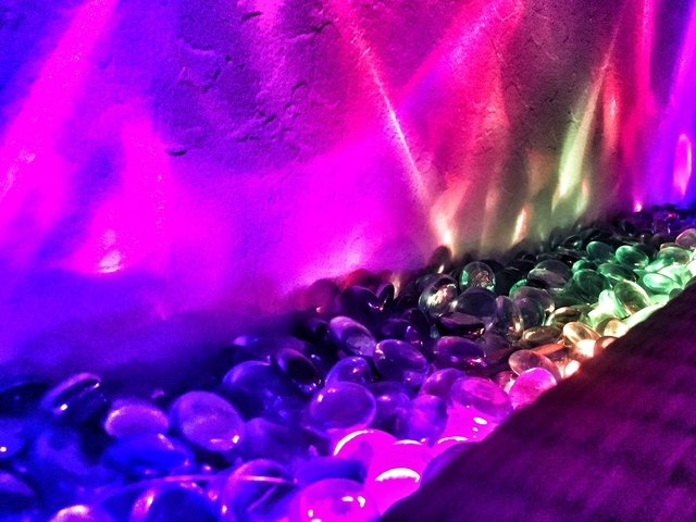 Dotstar LED and Glass Pebble Floor