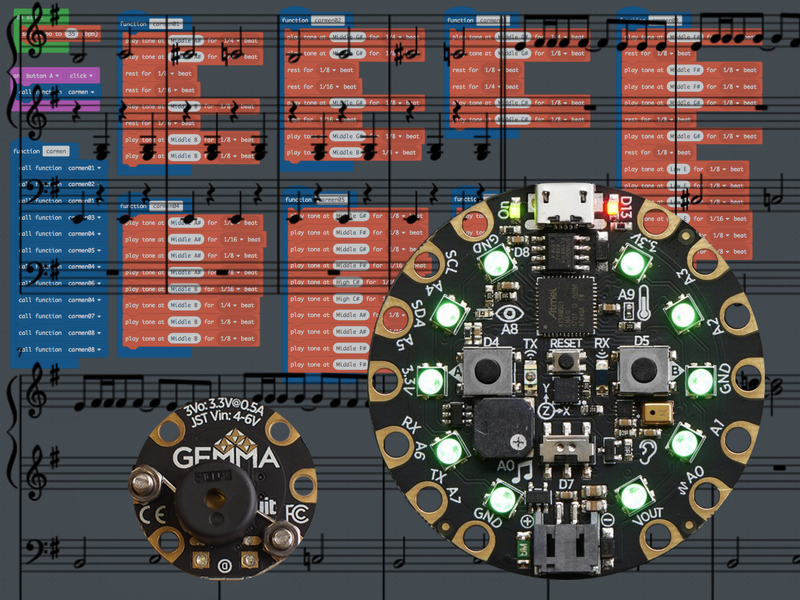 Code Music with MakeCode for Circuit Playground Express | Spy Theme
