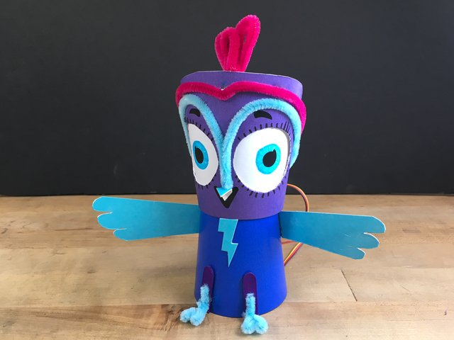 Crickit Powered Minerva Owl Robot