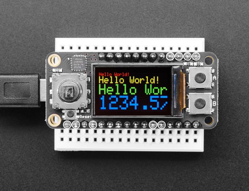 Arduino code adafruit mini tft with joystick featherwing