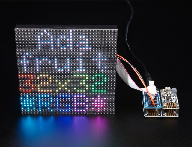 Adafruit RGB Matrix FeatherWing