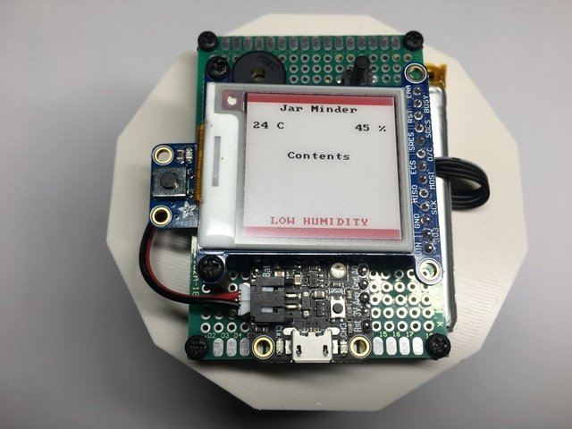 Humidity and Temperature Monitor with E-Ink Display