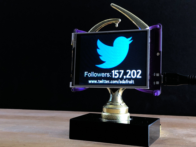 PyPortal Twitter Follows Trophy