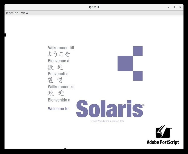 Overview | Build your own SPARC workstation with QEMU and Solaris