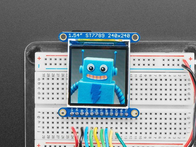 "Adafruit 1.3"" and 1.54"" 240x240 Wide Angle TFT LCD Displays"