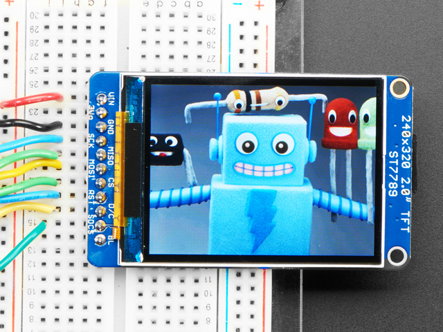 "Adafruit 2.0"" 320x240 Color IPS TFT Display"