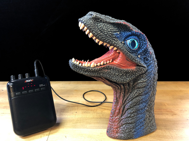 Velociraptor Voice and Eye Upgrade with MONSTER M4SK