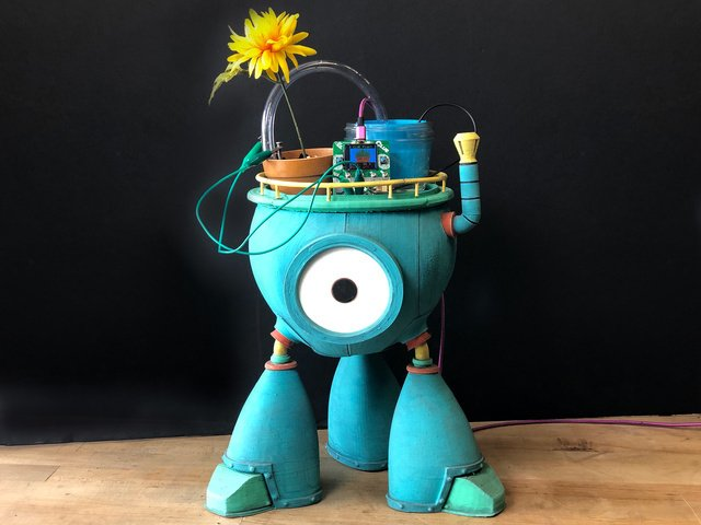 Chauncey the Flower Care Bot with CLUE and Bonsai Buckaroo