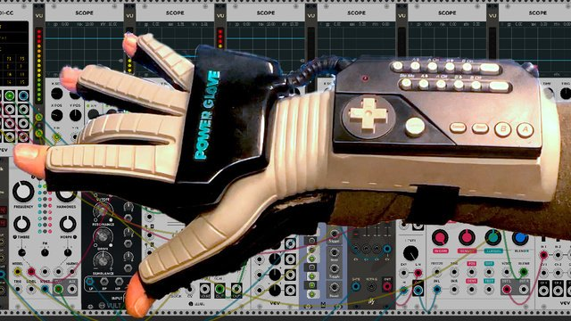 Power Glove Wireless MIDI Controller