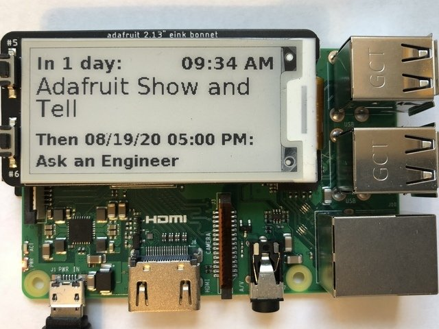 Raspberry Pi E-Ink Event Calendar using Python